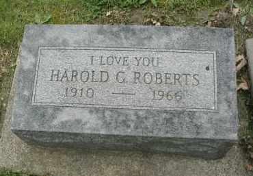 ROBERTS, HAROLD G. - DuPage County, Illinois | HAROLD G. ROBERTS - Illinois Gravestone Photos
