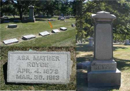 ROYCE, ASA MATHER - DuPage County, Illinois | ASA MATHER ROYCE - Illinois Gravestone Photos