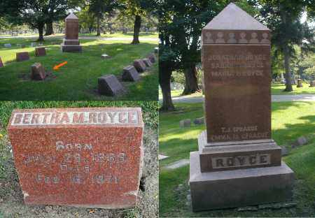 ROYCE, BERTHA M. - DuPage County, Illinois   BERTHA M. ROYCE - Illinois Gravestone Photos