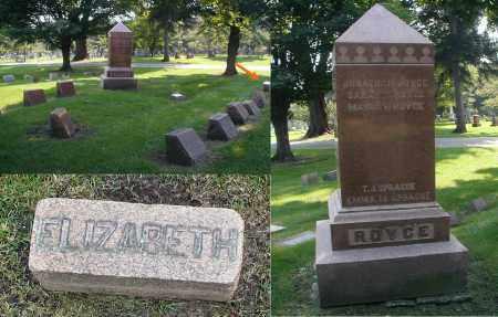 ROYCE, ELIZABETH - DuPage County, Illinois | ELIZABETH ROYCE - Illinois Gravestone Photos