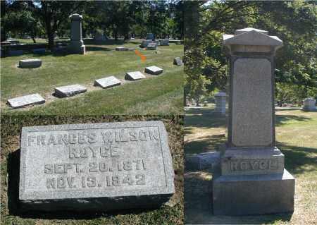 ROYCE, FRANCES - DuPage County, Illinois | FRANCES ROYCE - Illinois Gravestone Photos