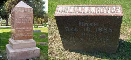 ROYCE, JULIAN A. - DuPage County, Illinois | JULIAN A. ROYCE - Illinois Gravestone Photos