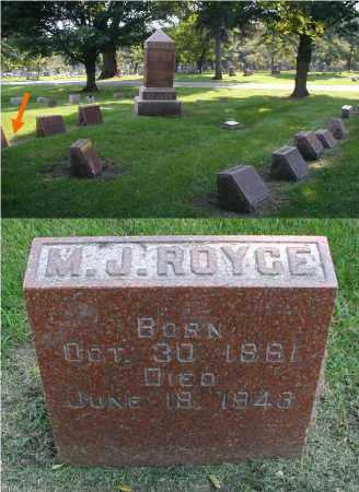 ROYCE, MARY J. - DuPage County, Illinois   MARY J. ROYCE - Illinois Gravestone Photos