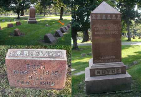 ROYCE, SARAH A. - DuPage County, Illinois | SARAH A. ROYCE - Illinois Gravestone Photos