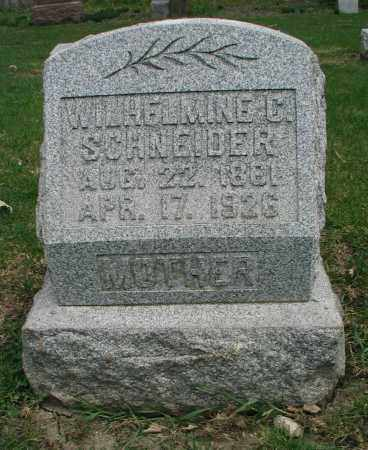 SCHNEIDER, WILHELMINE C. - DuPage County, Illinois | WILHELMINE C. SCHNEIDER - Illinois Gravestone Photos