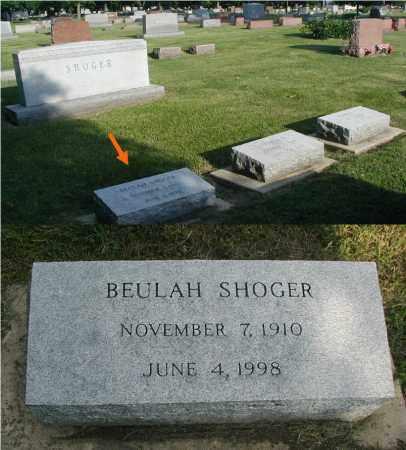 SHOGER, BEULAH - DuPage County, Illinois | BEULAH SHOGER - Illinois Gravestone Photos