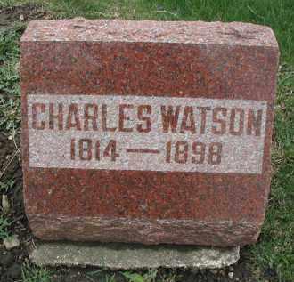 WATSON, CHARLES - DuPage County, Illinois | CHARLES WATSON - Illinois Gravestone Photos