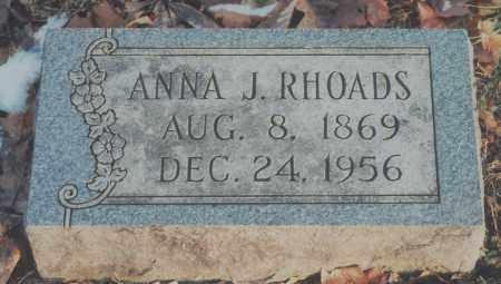 RHOADS, ANNA J. - Edgar County, Illinois   ANNA J. RHOADS - Illinois Gravestone Photos