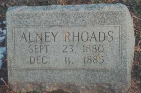 RHOADS, ALNEY - Edgar County, Illinois | ALNEY RHOADS - Illinois Gravestone Photos
