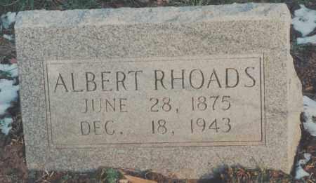 RHOADS, ALBERT - Edgar County, Illinois | ALBERT RHOADS - Illinois Gravestone Photos
