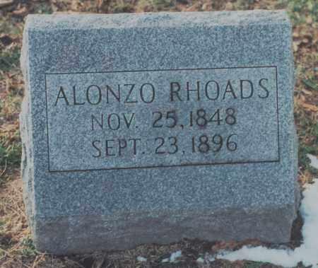 RHOADS, ALONZO - Edgar County, Illinois | ALONZO RHOADS - Illinois Gravestone Photos