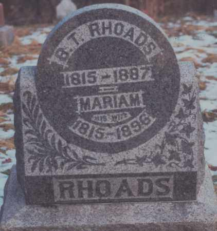 RHOADS, BENJAMIN TOLBERT - Edgar County, Illinois | BENJAMIN TOLBERT RHOADS - Illinois Gravestone Photos