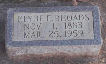 RHOADS, CLYDE E. - Edgar County, Illinois | CLYDE E. RHOADS - Illinois Gravestone Photos
