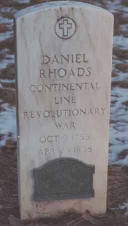 RHOADS, DANIEL - Edgar County, Illinois | DANIEL RHOADS - Illinois Gravestone Photos