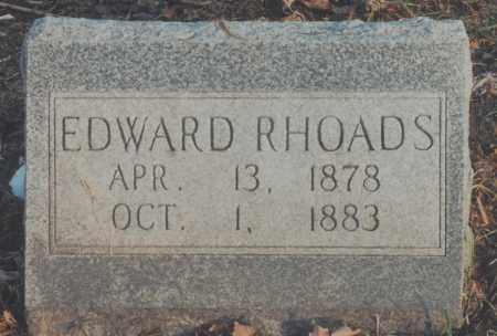 RHOADS, EDWARD - Edgar County, Illinois   EDWARD RHOADS - Illinois Gravestone Photos