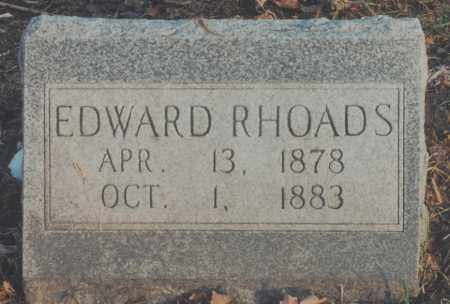 RHOADS, EDWARD - Edgar County, Illinois | EDWARD RHOADS - Illinois Gravestone Photos