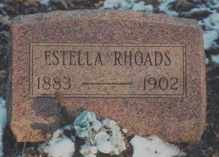 RHOADS, ESTELLA - Edgar County, Illinois | ESTELLA RHOADS - Illinois Gravestone Photos