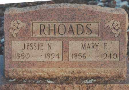 RHOADS, MARY E. - Edgar County, Illinois | MARY E. RHOADS - Illinois Gravestone Photos
