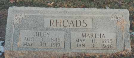 RHOADS, MARTHA - Edgar County, Illinois | MARTHA RHOADS - Illinois Gravestone Photos