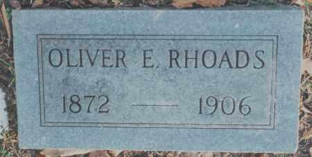RHOADS, OLIVER E. - Edgar County, Illinois | OLIVER E. RHOADS - Illinois Gravestone Photos