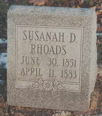 RHOADS, SUSANAH D. - Edgar County, Illinois | SUSANAH D. RHOADS - Illinois Gravestone Photos