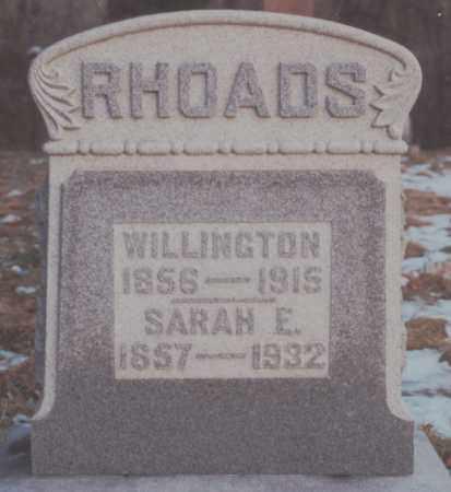 RHOADS, SARAH ELIZABETH - Edgar County, Illinois | SARAH ELIZABETH RHOADS - Illinois Gravestone Photos