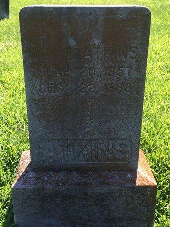 ATKINS, WILLIAM B - Franklin County, Illinois | WILLIAM B ATKINS - Illinois Gravestone Photos