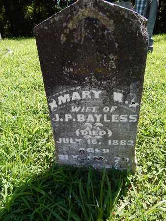 BAYLESS, MARY R - Franklin County, Illinois | MARY R BAYLESS - Illinois Gravestone Photos