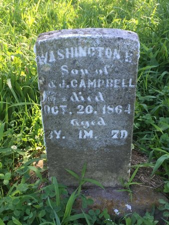 CAMPBELL, WASHINGTON H - Franklin County, Illinois | WASHINGTON H CAMPBELL - Illinois Gravestone Photos