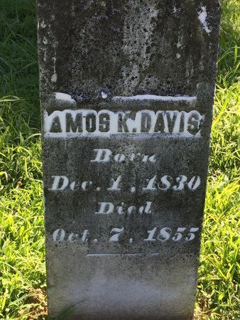 DAVIS, AMOS K - Franklin County, Illinois   AMOS K DAVIS - Illinois Gravestone Photos