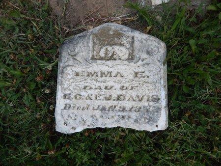DAVIS, EMMA E - Franklin County, Illinois | EMMA E DAVIS - Illinois Gravestone Photos