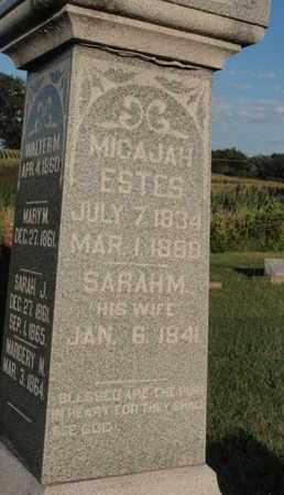 ESTES, SARAH M - Franklin County, Illinois | SARAH M ESTES - Illinois Gravestone Photos