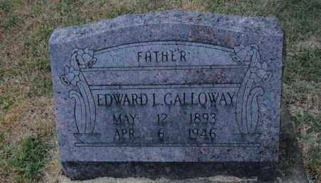 GALLOWAY, EDWARD L - Franklin County, Illinois | EDWARD L GALLOWAY - Illinois Gravestone Photos