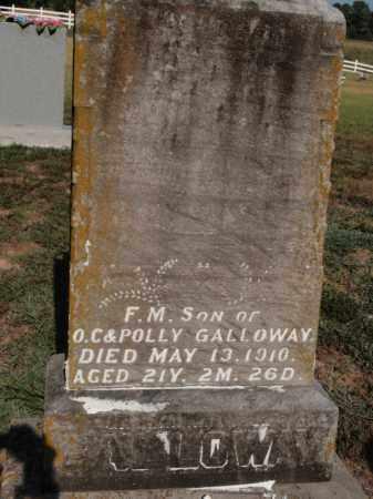 GALLOWAY, F M - Franklin County, Illinois | F M GALLOWAY - Illinois Gravestone Photos