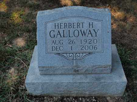 GALLOWAY, HERBERT H - Franklin County, Illinois | HERBERT H GALLOWAY - Illinois Gravestone Photos