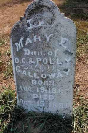 GALLOWAY, MARY E - Franklin County, Illinois | MARY E GALLOWAY - Illinois Gravestone Photos