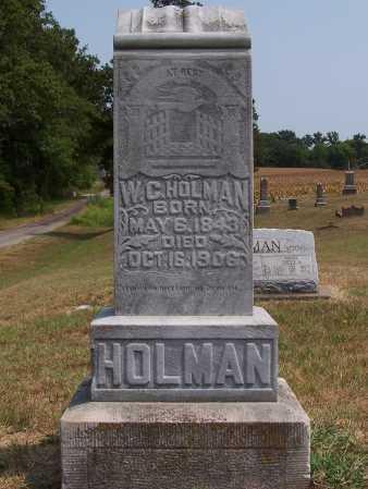 HOLMAN, WILLIAM CHESNEY - Franklin County, Illinois | WILLIAM CHESNEY HOLMAN - Illinois Gravestone Photos