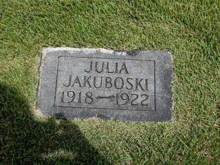 JAKUBOSKI, JULIA - Franklin County, Illinois   JULIA JAKUBOSKI - Illinois Gravestone Photos