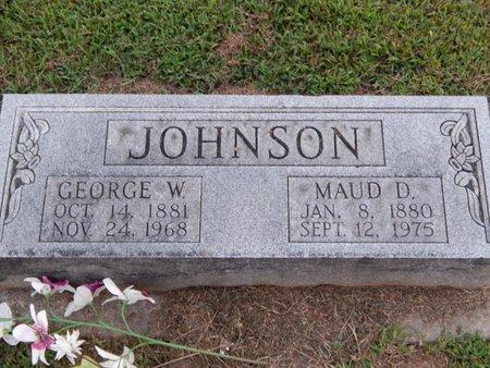 JOHNSON, GEORGE W - Franklin County, Illinois | GEORGE W JOHNSON - Illinois Gravestone Photos