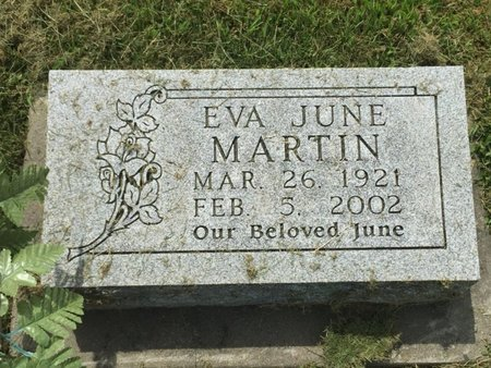 MARTIN, EVA JUNE - Franklin County, Illinois | EVA JUNE MARTIN - Illinois Gravestone Photos