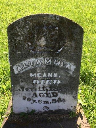 MEANS, ALTAMIRA - Franklin County, Illinois   ALTAMIRA MEANS - Illinois Gravestone Photos