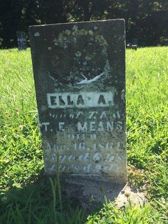 MEANS, ELLA A - Franklin County, Illinois | ELLA A MEANS - Illinois Gravestone Photos