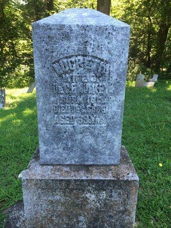 SCANTLIN MULKEY, LUCRETIA - Franklin County, Illinois | LUCRETIA SCANTLIN MULKEY - Illinois Gravestone Photos