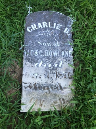 ROWLAND, CHARLIE B - Franklin County, Illinois | CHARLIE B ROWLAND - Illinois Gravestone Photos