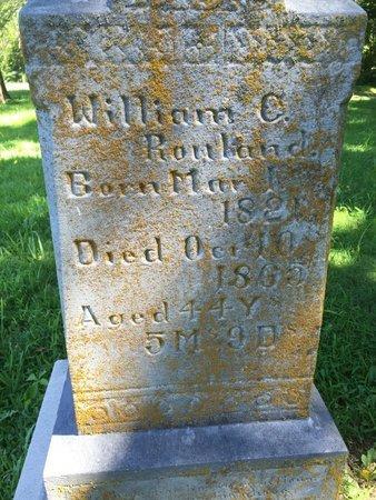 ROWLAND, WILLIAM C - Franklin County, Illinois | WILLIAM C ROWLAND - Illinois Gravestone Photos