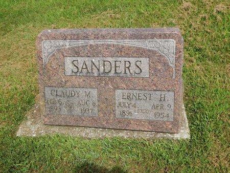 SANDERS, ERNEST H - Franklin County, Illinois | ERNEST H SANDERS - Illinois Gravestone Photos
