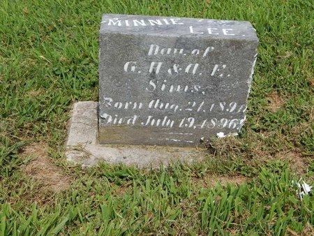 SIMS, MINNIE LEE - Franklin County, Illinois   MINNIE LEE SIMS - Illinois Gravestone Photos