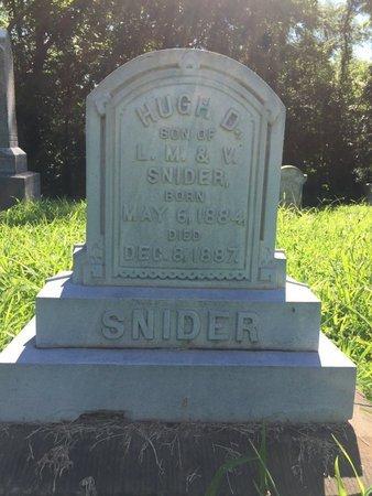 SNIDER, HUGH D - Franklin County, Illinois   HUGH D SNIDER - Illinois Gravestone Photos