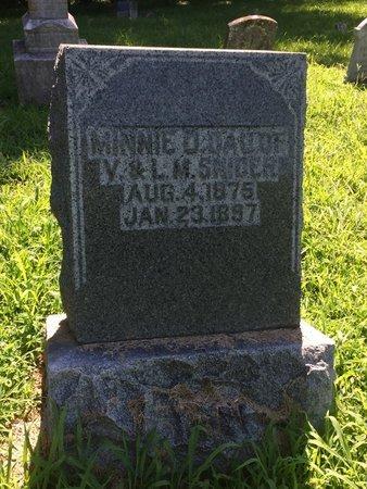 SNIDER, MINNIE O - Franklin County, Illinois | MINNIE O SNIDER - Illinois Gravestone Photos