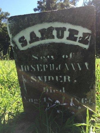 SNIDER, SAMUEL - Franklin County, Illinois | SAMUEL SNIDER - Illinois Gravestone Photos